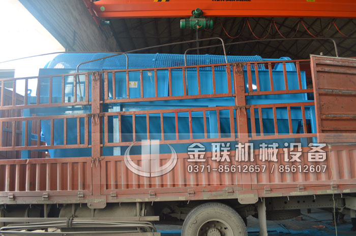 GTS1845重型无轴滚筒筛沙机发货图片_发往河南周口5