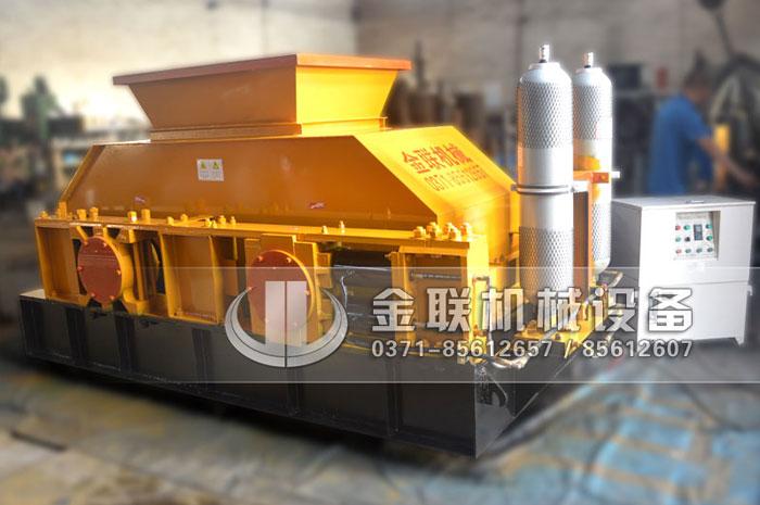 大型液压对辊制砂机-液压对辊式破碎机价格-鹅河卵石对辊制砂机图片视频