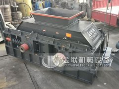 2PG1510大型液压对辊制砂机-液压对辊破碎机发货图片