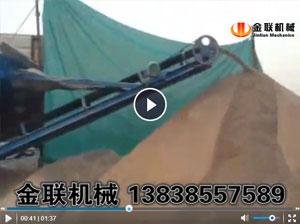 小型筛分输送一体机生产现场_滚筒筛沙机视频